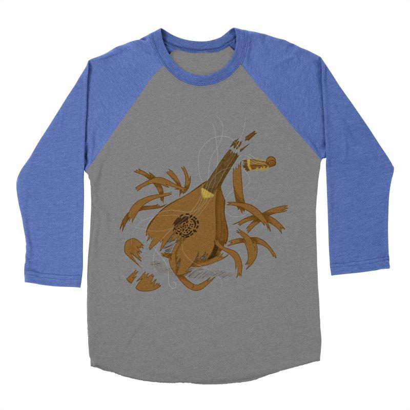 DeLuted Women's Baseball Triblend Longsleeve T-Shirt by JordanaHeney Illustration