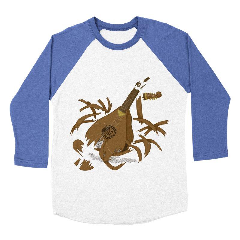 DeLuted Men's Baseball Triblend Longsleeve T-Shirt by JordanaHeney Illustration