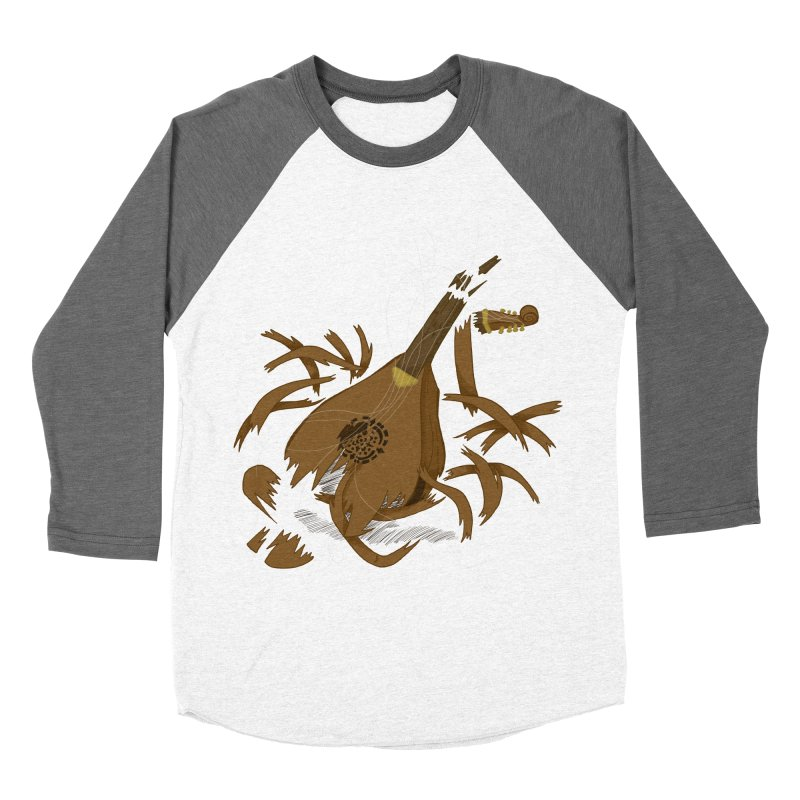 DeLuted Men's Baseball Triblend Longsleeve T-Shirt by JordanaHeney Illustration