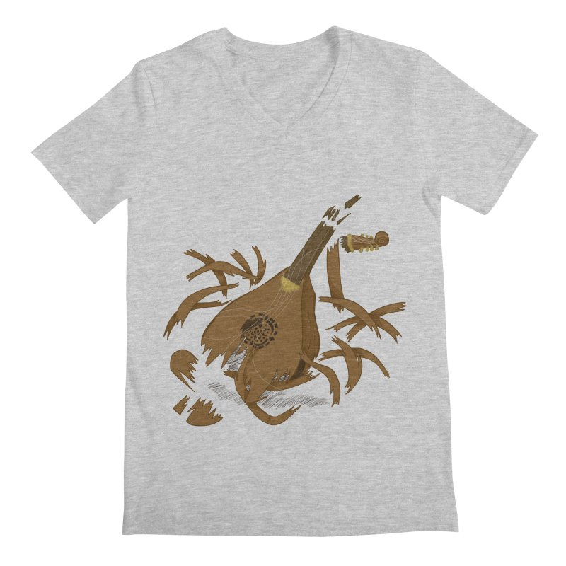 DeLuted Men's Regular V-Neck by JordanaHeney Illustration
