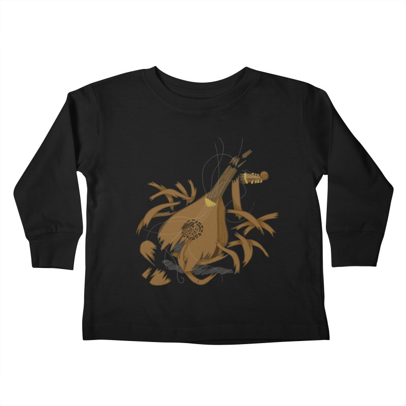 DeLuted Kids Toddler Longsleeve T-Shirt by JordanaHeney Illustration