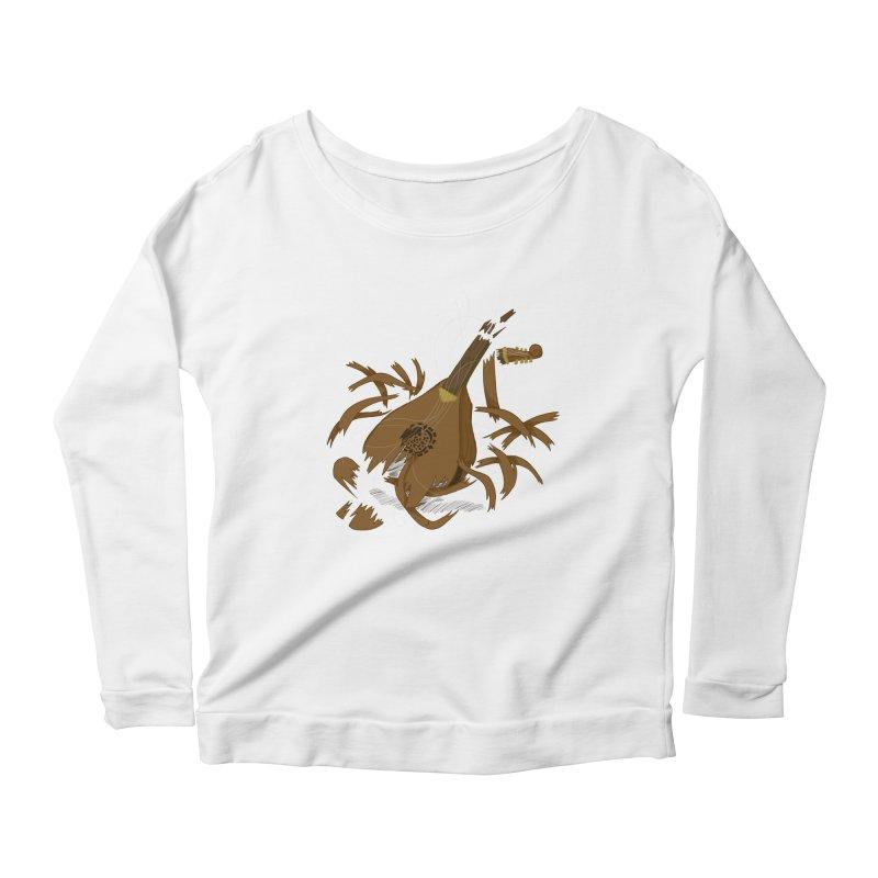 DeLuted Women's Scoop Neck Longsleeve T-Shirt by JordanaHeney Illustration