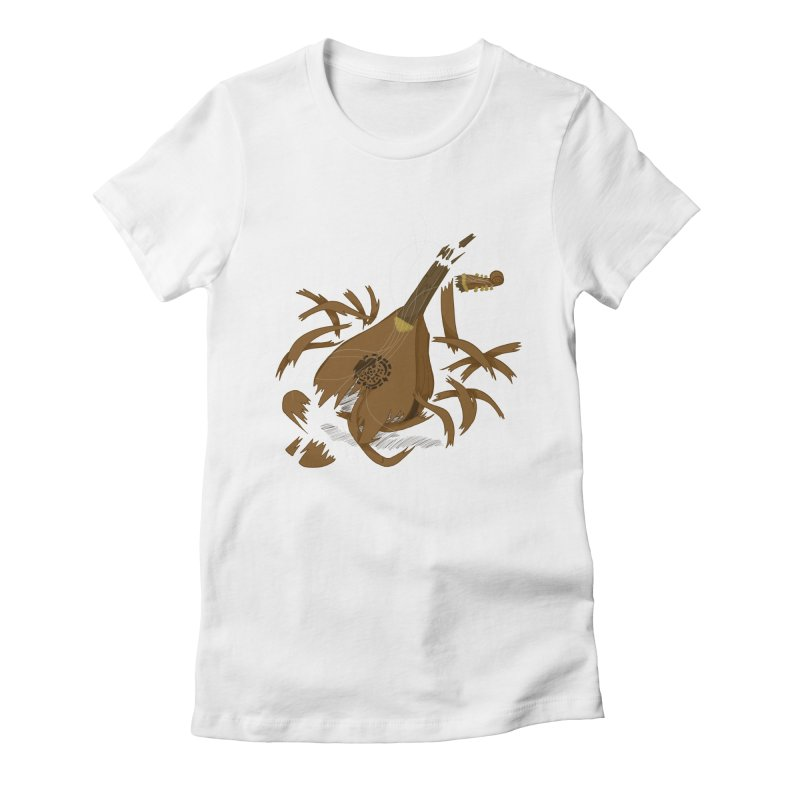 DeLuted Women's Fitted T-Shirt by JordanaHeney Illustration