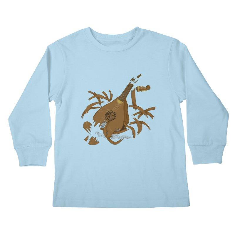 DeLuted Kids Longsleeve T-Shirt by JordanaHeney Illustration