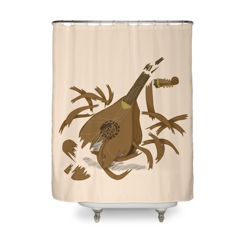 DeLuted Home Shower Curtain by JordanaHeney Illustration