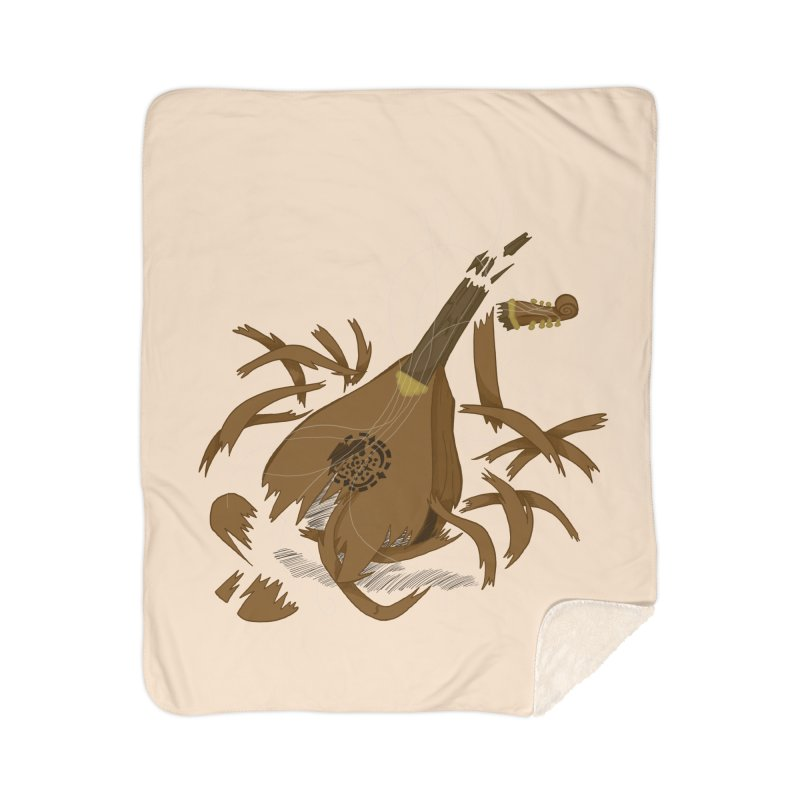 DeLuted Home Sherpa Blanket Blanket by JordanaHeney Illustration