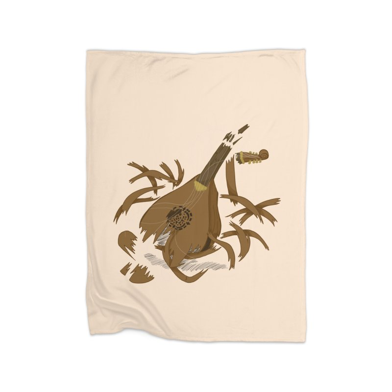 DeLuted Home Fleece Blanket Blanket by JordanaHeney Illustration