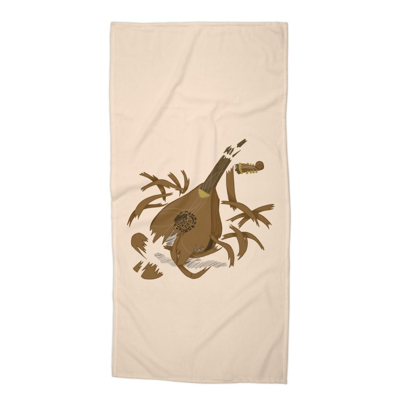 DeLuted Accessories Beach Towel by JordanaHeney Illustration
