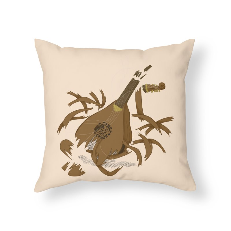 DeLuted Home Throw Pillow by JordanaHeney Illustration