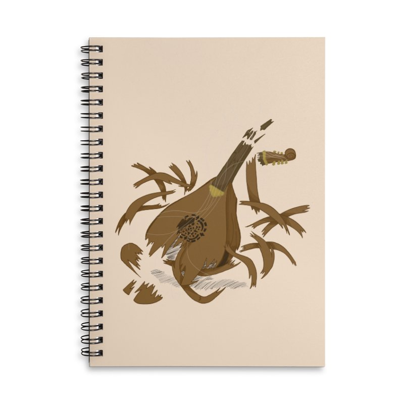 DeLuted Accessories Lined Spiral Notebook by JordanaHeney Illustration