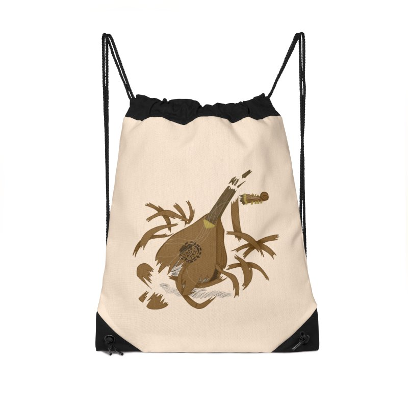 DeLuted Accessories Drawstring Bag Bag by JordanaHeney Illustration