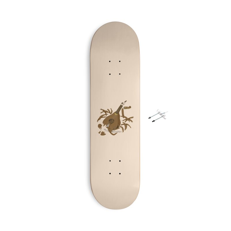 DeLuted Accessories With Hanging Hardware Skateboard by JordanaHeney Illustration
