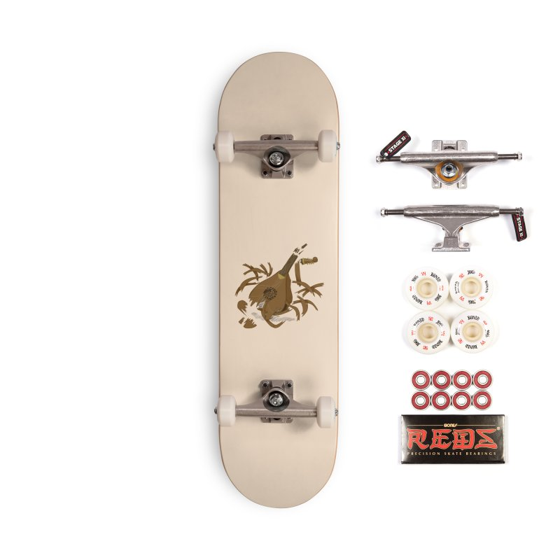 DeLuted Accessories Complete - Pro Skateboard by JordanaHeney Illustration