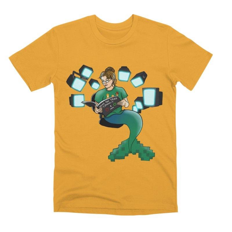 Geek Mermaid Men's Premium T-Shirt by JordanaHeney Illustration
