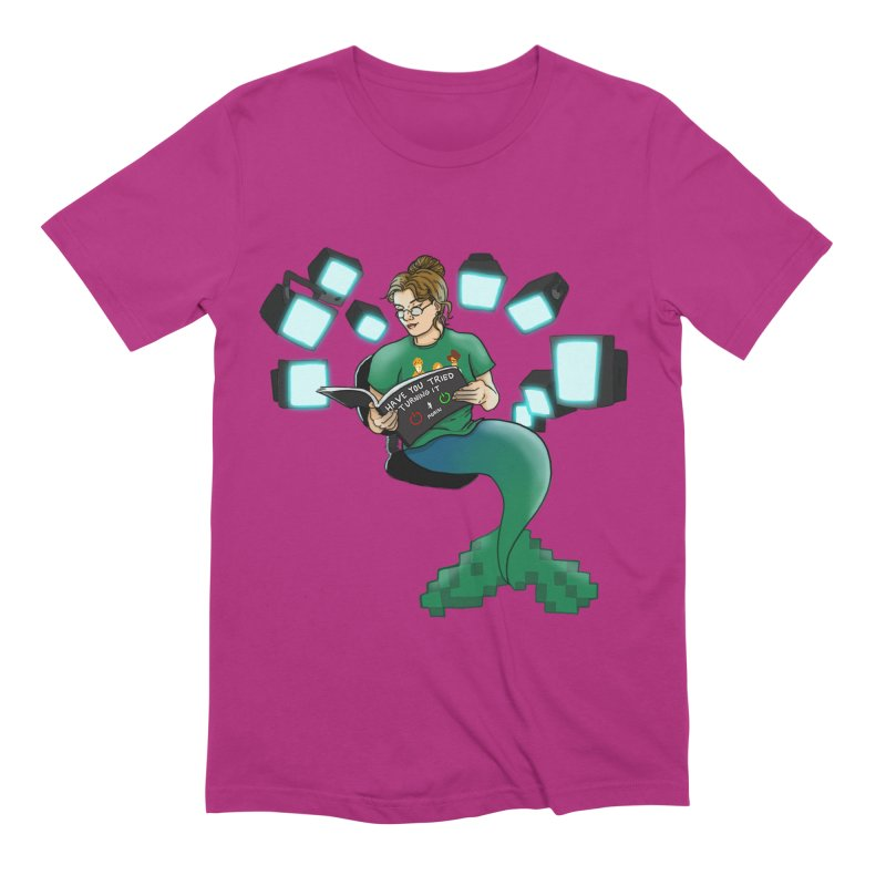 Geek Mermaid Men's Extra Soft T-Shirt by JordanaHeney Illustration