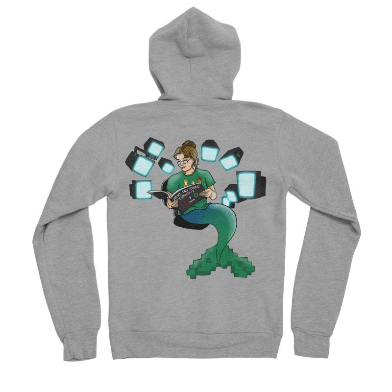 Geek Mermaid Men's Sponge Fleece Zip-Up Hoody by JordanaHeney Illustration