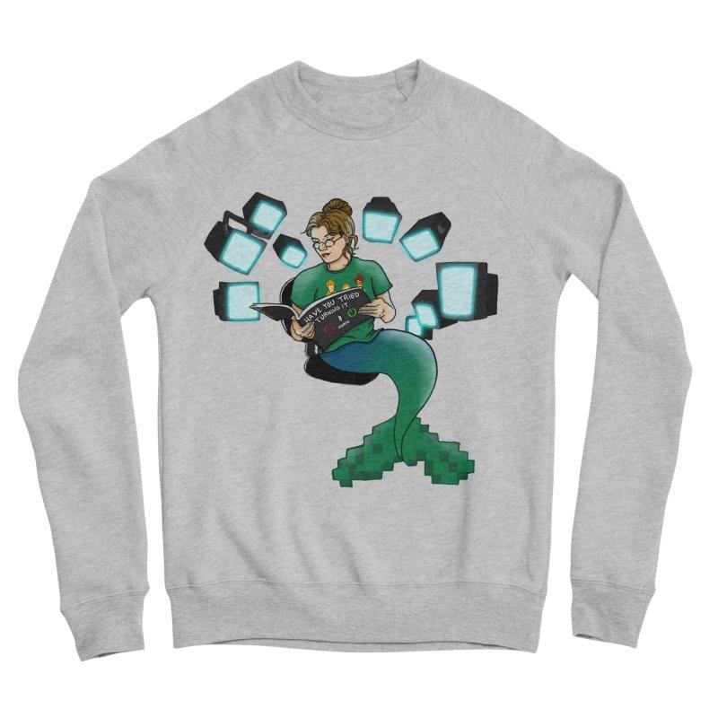 Geek Mermaid Men's Sponge Fleece Sweatshirt by JordanaHeney Illustration
