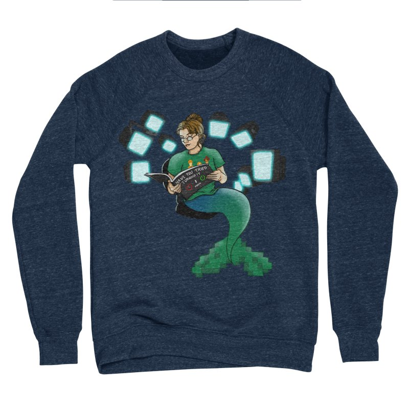 Geek Mermaid Women's Sponge Fleece Sweatshirt by JordanaHeney Illustration