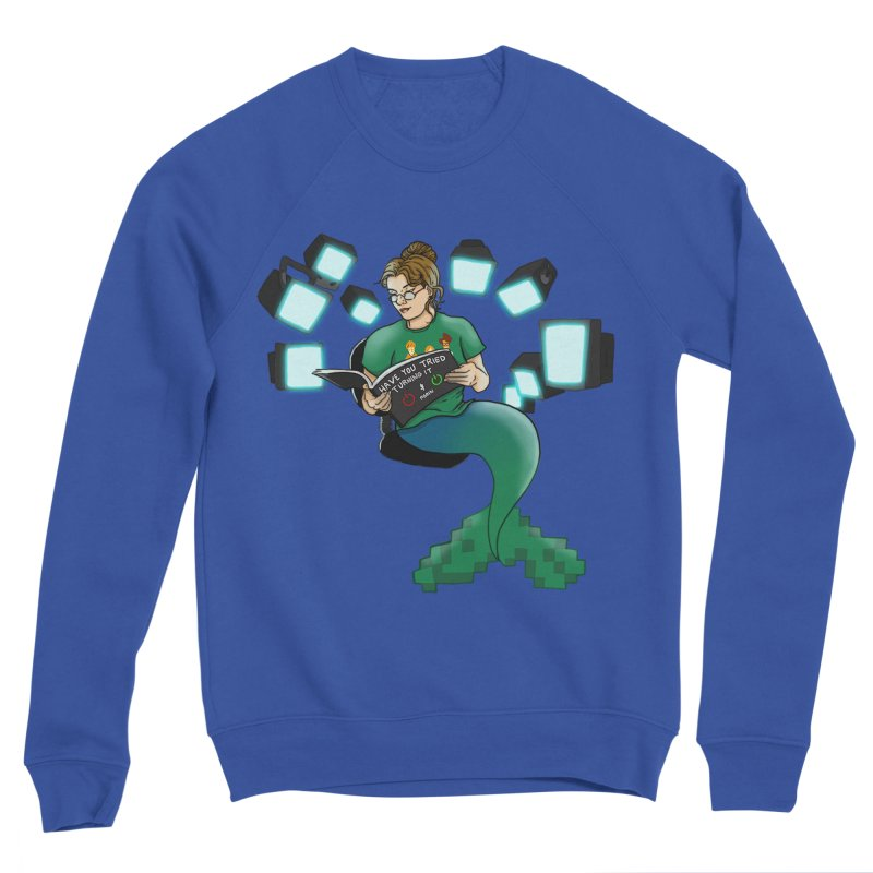 Geek Mermaid Women's Sweatshirt by JordanaHeney Illustration