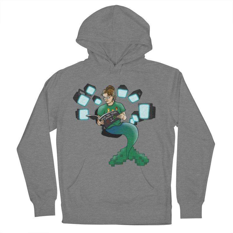 Geek Mermaid Men's French Terry Pullover Hoody by JordanaHeney Illustration
