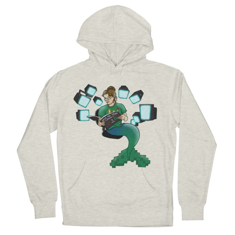 Geek Mermaid Men's French Terry Pullover Hoody by JordanaHeney Illustration