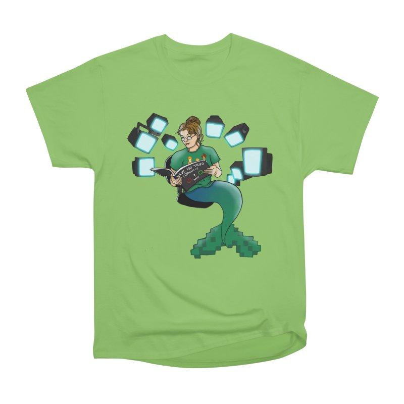 Geek Mermaid Women's Heavyweight Unisex T-Shirt by JordanaHeney Illustration