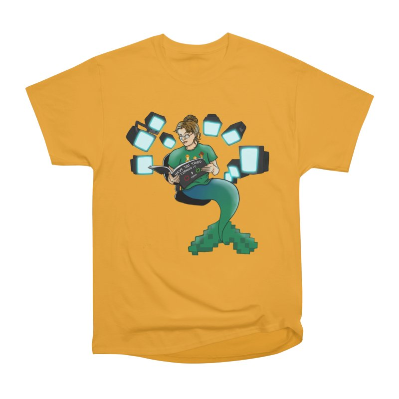 Geek Mermaid Men's Heavyweight T-Shirt by JordanaHeney Illustration