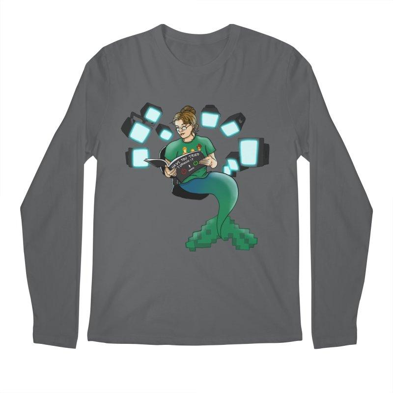 Geek Mermaid Men's Longsleeve T-Shirt by JordanaHeney Illustration