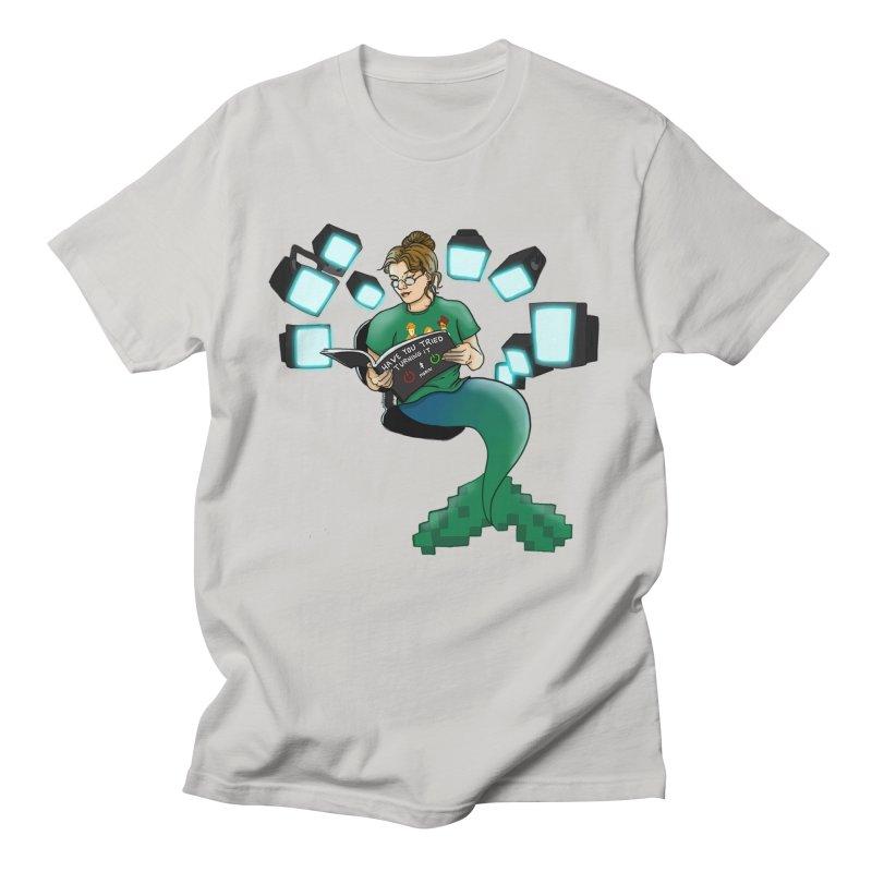 Geek Mermaid Women's Regular Unisex T-Shirt by JordanaHeney Illustration