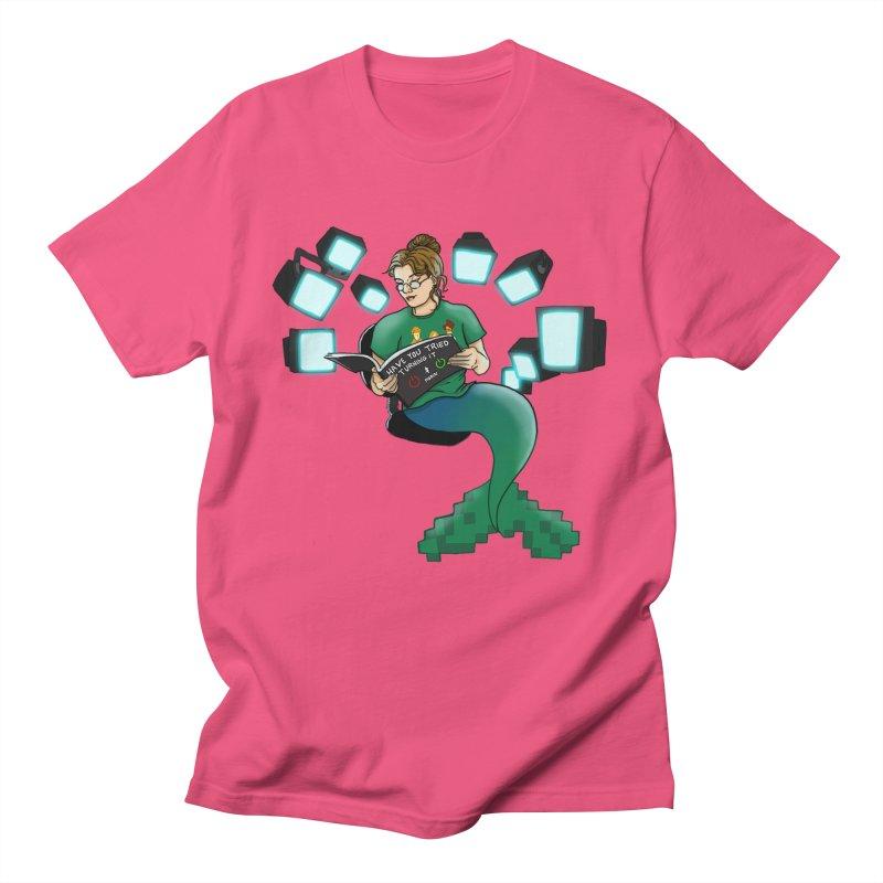 Geek Mermaid Men's T-Shirt by JordanaHeney Illustration
