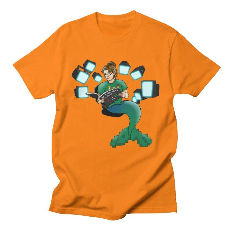 Geek Mermaid Men's Regular T-Shirt by JordanaHeney Illustration