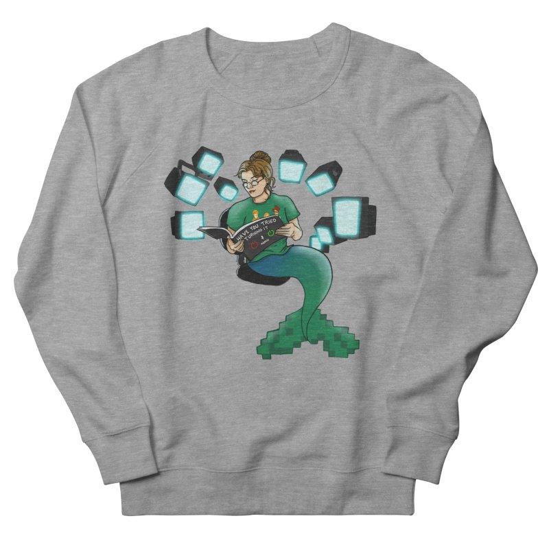 Geek Mermaid Women's French Terry Sweatshirt by JordanaHeney Illustration