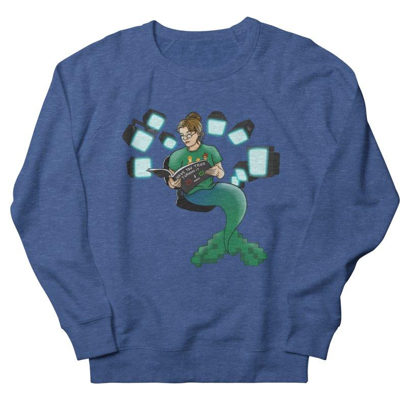 Geek Mermaid Men's Sweatshirt by JordanaHeney Illustration