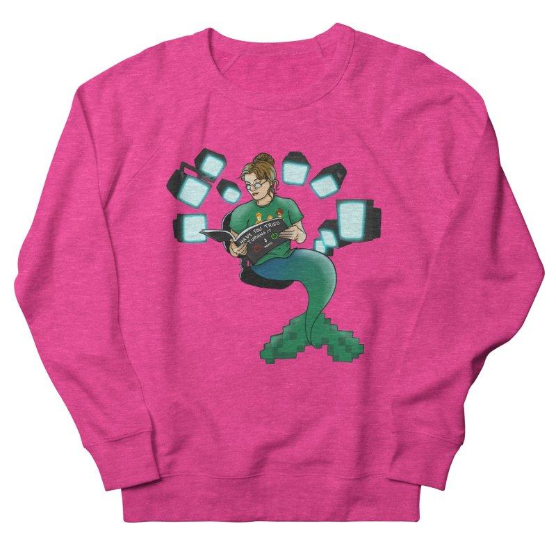 Geek Mermaid Men's French Terry Sweatshirt by JordanaHeney Illustration