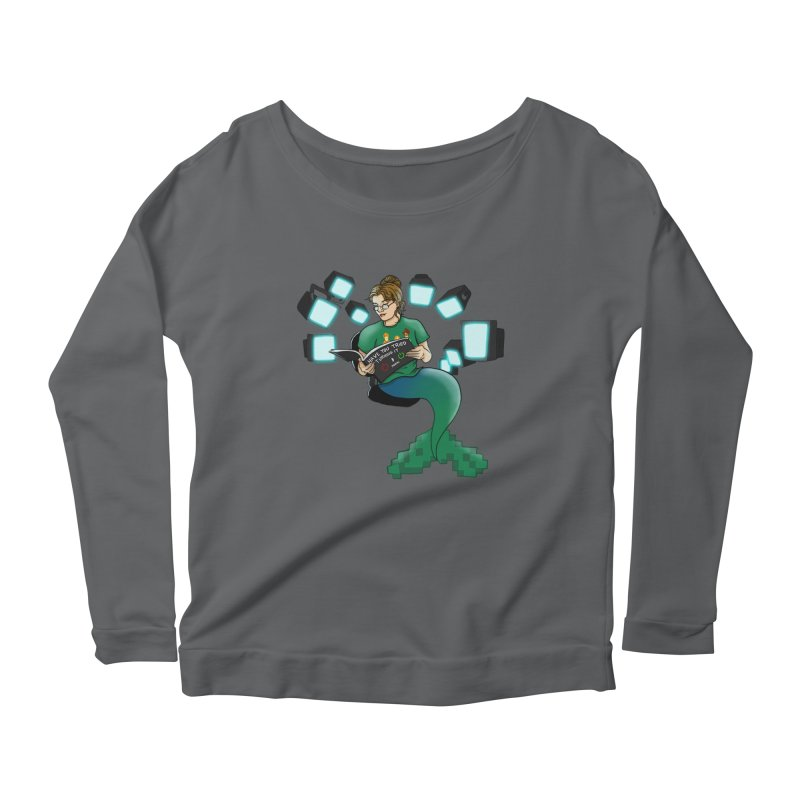 Geek Mermaid Women's Scoop Neck Longsleeve T-Shirt by JordanaHeney Illustration