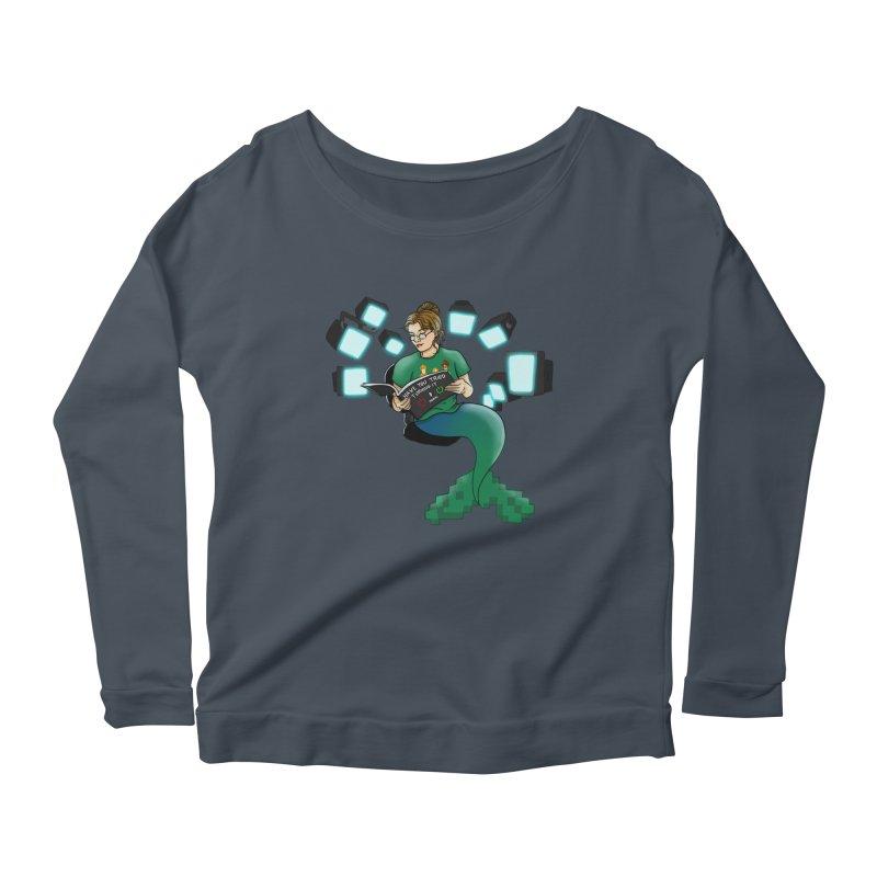 Geek Mermaid Women's Scoop Neck Longsleeve T-Shirt by JordanaHeney Illustration