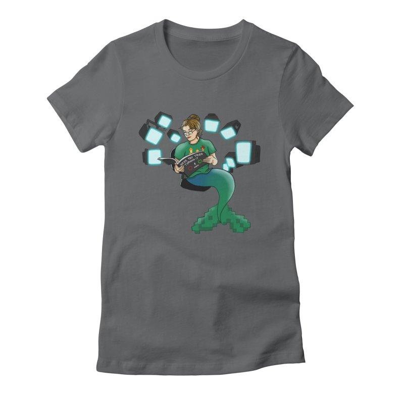 Geek Mermaid Women's Fitted T-Shirt by JordanaHeney Illustration