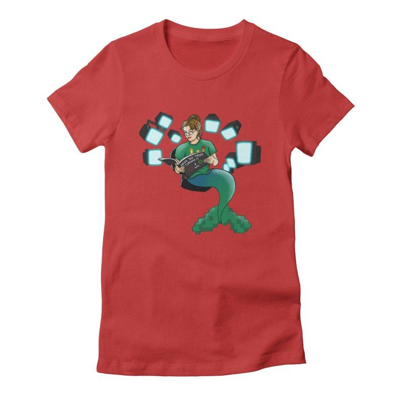 Geek Mermaid Women's T-Shirt by JordanaHeney Illustration