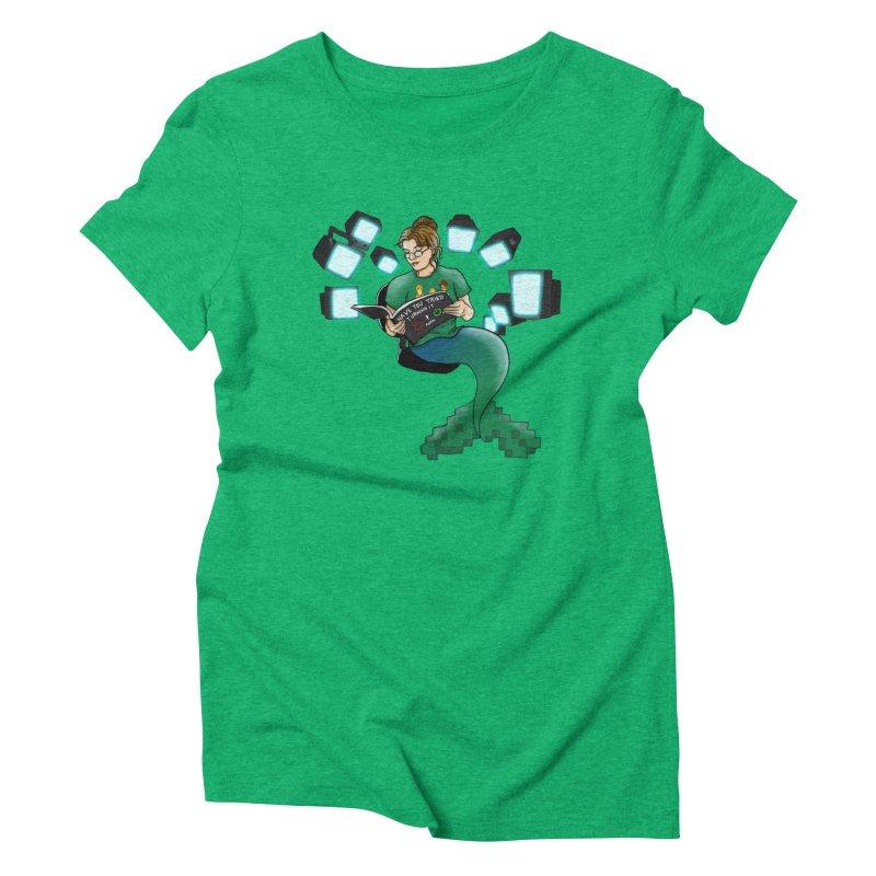 Geek Mermaid Women's Triblend T-Shirt by JordanaHeney Illustration