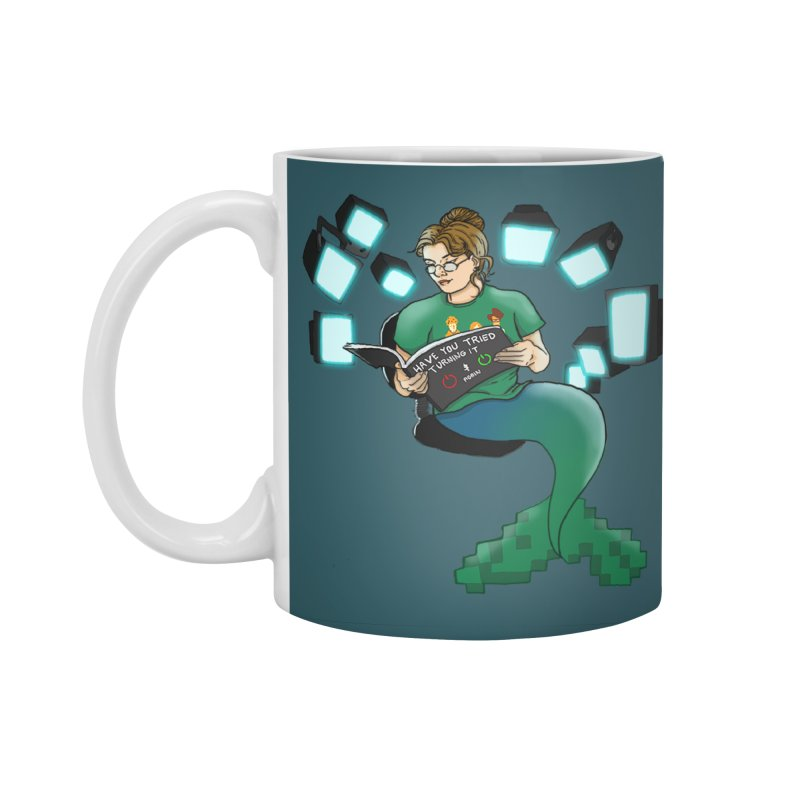 Geek Mermaid Accessories Mug by JordanaHeney Illustration