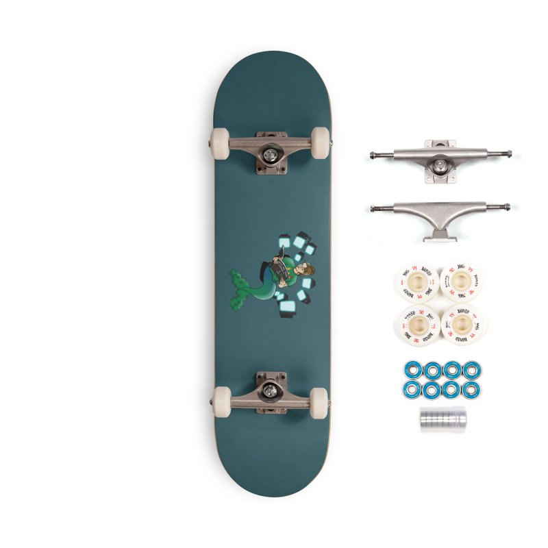 Geek Mermaid Accessories Complete - Premium Skateboard by JordanaHeney Illustration