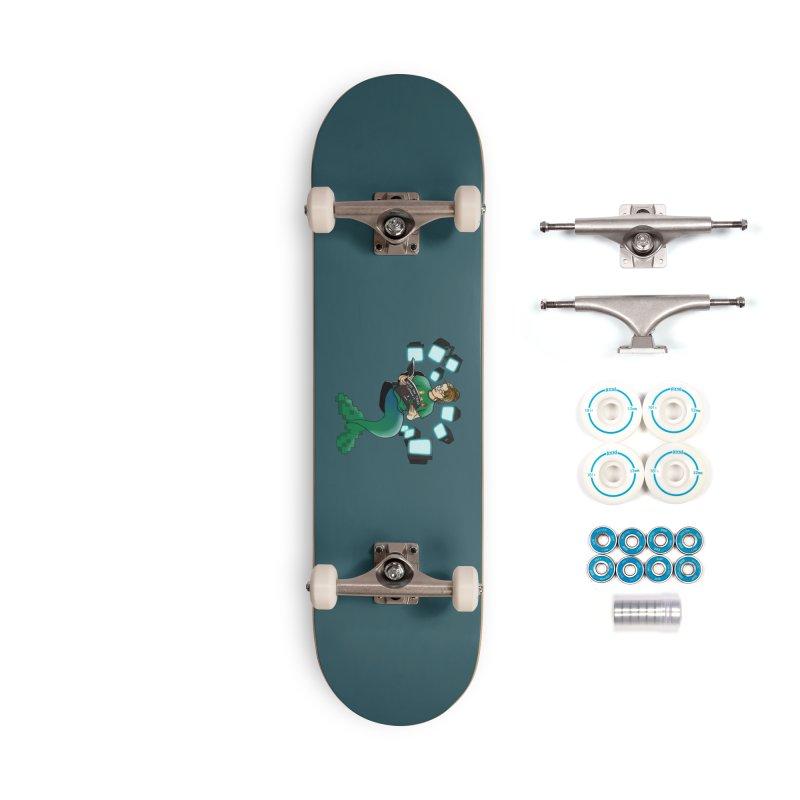 Geek Mermaid Accessories Complete - Basic Skateboard by JordanaHeney Illustration