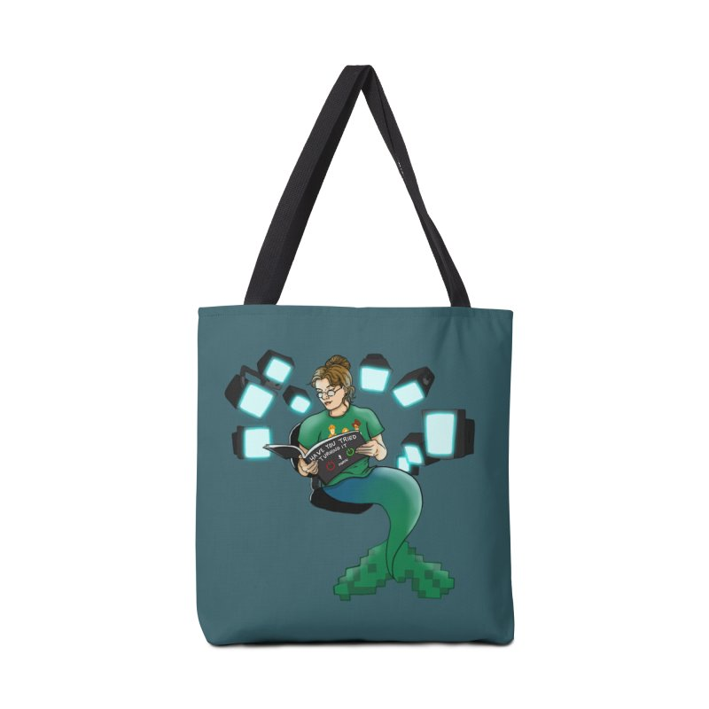 Geek Mermaid Accessories Tote Bag Bag by JordanaHeney Illustration
