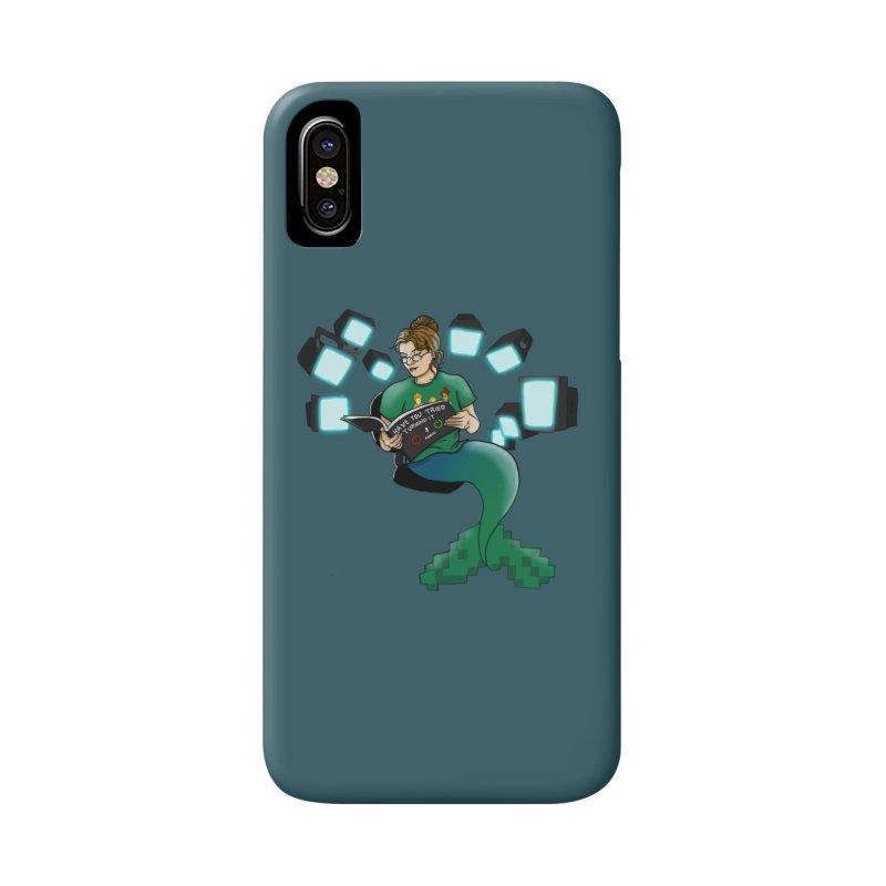 Geek Mermaid Accessories Phone Case by JordanaHeney Illustration