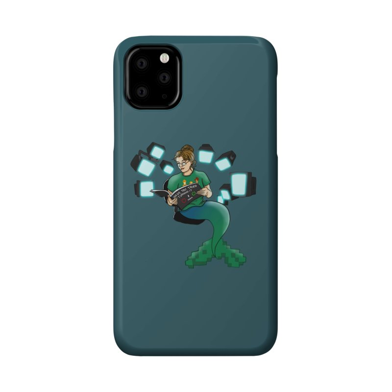 Geek Mermaid Accessories Phone Case by JordanaHeney Illustration