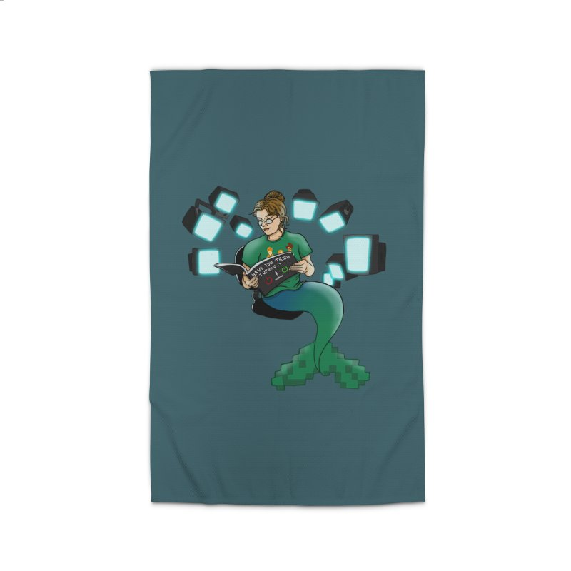 Geek Mermaid Home Rug by JordanaHeney Illustration