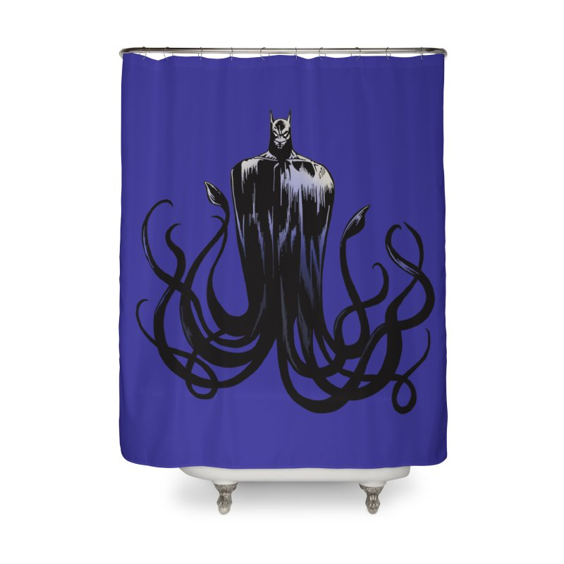 Aquabat Home Shower Curtain by JordanaHeney Illustration