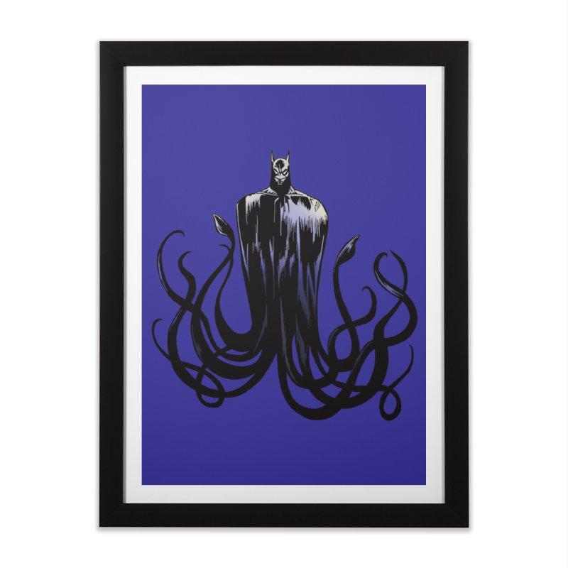 Aquabat Home Framed Fine Art Print by JordanaHeney Illustration
