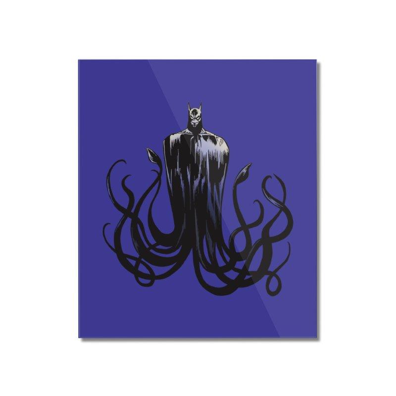 Aquabat Home Mounted Acrylic Print by JordanaHeney Illustration
