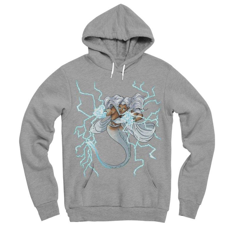 Thunderwater Men's Sponge Fleece Pullover Hoody by JordanaHeney Illustration